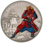 Niue Islands 2 Dollar Warriors of History Samurai...